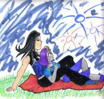 Aqualad and Raven by Go-Titans-East