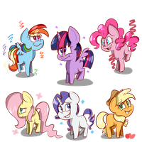 Commission - Mane 6 by BefishProductions
