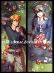 Fruits Basket Bookmark - Tohru and Kyo by tahliadenae