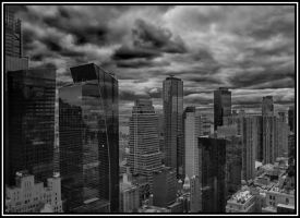 Skyline from Times Square by acornish