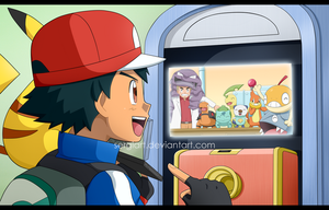 Pokemon - Calling my friends by SergiART