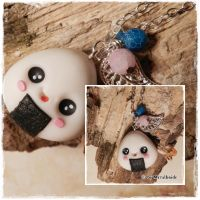 Kawaii Onigiri necklace Video Tutorial by oOMetalbrideOo