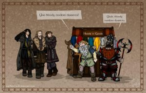 The Hobbit: Modern Dwarves by wolfanita