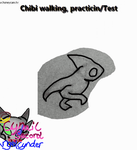 Chibi walking Practicing/Test Trantional animation by CynderAngelDWOship14