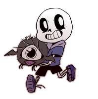 Don't Starve + Undertale   SANS AND SMALLBIRD by PikaIsCool