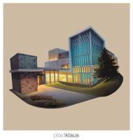 Building Illustration: Center for the Arts by plaidklaus