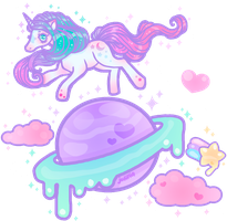 Pastel Magic Planet by MissJediflip