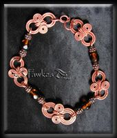 copper wire bracelet by Fawkesgirl