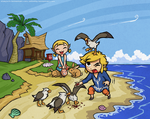 Collab with Starfoch - Wind Waker: Outset Siblings by Zelbunnii