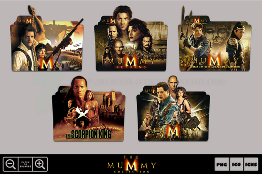 The Mummy Movie Collection Folder Icon Pack by Bl4CKSL4YER