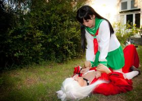 Kagome and Inuyasha cosplay by TemyNyan