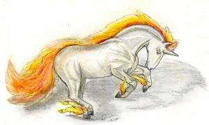 Rapidash for Skyqeen by Vulpesartifex