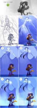 Steps: The Ice Queen by Noukah