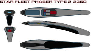 Star fleet Phaser type 2  2360 by bagera3005