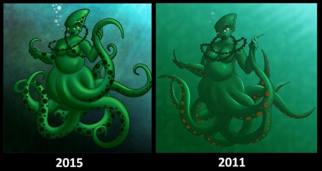 Redraw Octopus Girl by Linear-Toffee