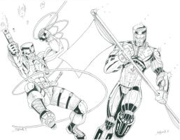 Bloodshot and X-O Manowar 3 of 3 Variant Inked by CliffEngland