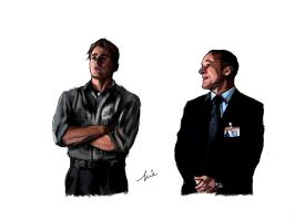 Steve Rogers and Phil Coulson by Capbird