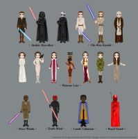 Star Wars Dollz by silverglass19