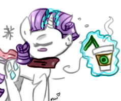 Rarity in the Winter by PonyPocky317