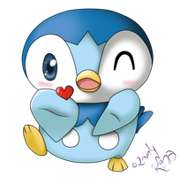 AT: Blowkiss Piplup by KiSsixHime