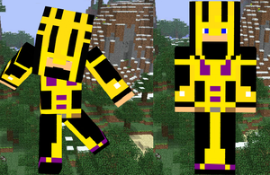 Minecraft Black and Yellow assasin(bugged will fix by TossarN