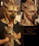 Spotted Hyena/Gnoll LARP mask by Magpieb0nes