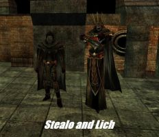 Stealo and Lich by TheMightyGorga