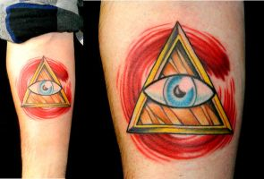 All Seeing Eye Tattooed by Sirius-Tattoo