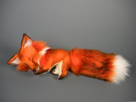 Sleepy Red Fox Plush by WhittyKitty