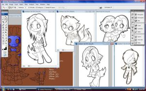 WIP: Art trade Previews by icyookami