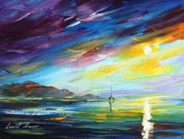Morning in Jamaica by Leonid Afremov by Leonidafremov