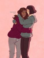domestic girlfriends in hoodies by upthehillart