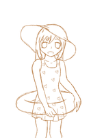 Christa in a swimsuit sketch by stephaniescarlet