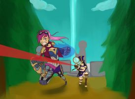 Vi and Cait by neocoolstar