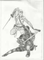 Snake Eyes vs Storm Shadow by conradknightsocks