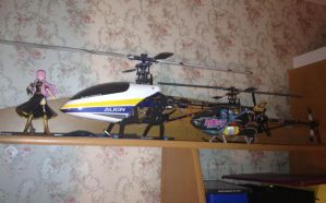 My RC Helicopters by bookazoid