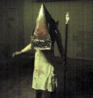 Pyramid Head old photo by MilkToothCuts