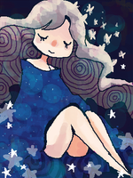 Starry Blues by Gooweee