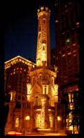 Chicago's Old Water Tower by wonenownlee