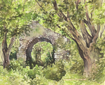 Ruins in the woods by Manuela-M