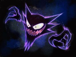 Red and Blue Haunter by lord-phillock
