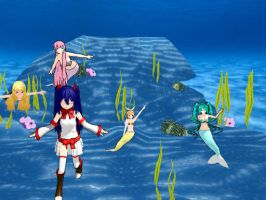 Wendy Marvell Hanging Out in the Ocean :D by CutiePie32510