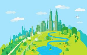 Scenery Flat Design by st7001