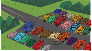 Parking Lot by Lotusbandicoot