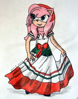 Amy Rose, Cinco de Mayo by ripjaws-girl21