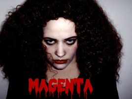 Magenta Makeup test by inicka