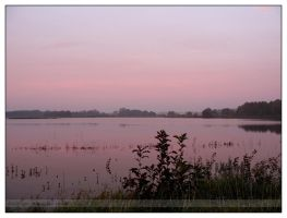 Sunrise above flooded fields by TheOneAndUlmi