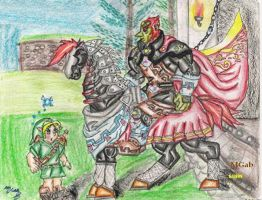 First met whit Ganon at day by Sapphire-Light