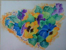 Pintura flores -acuarela- by SuperRainbowGirl