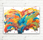 Abstract Art Original Painting by hjmart